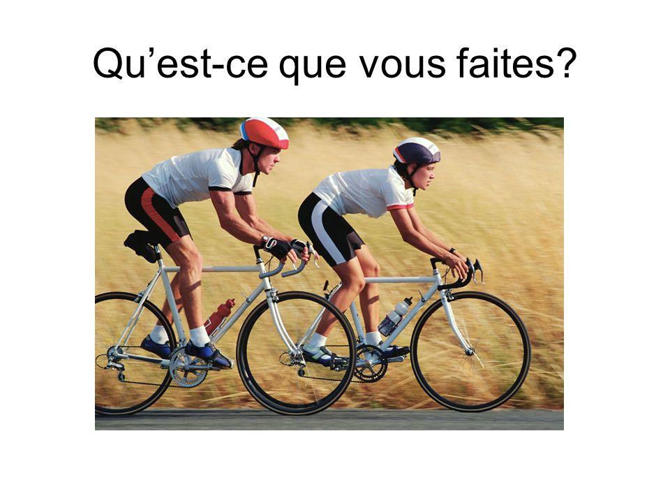 Nous faisons du vélo