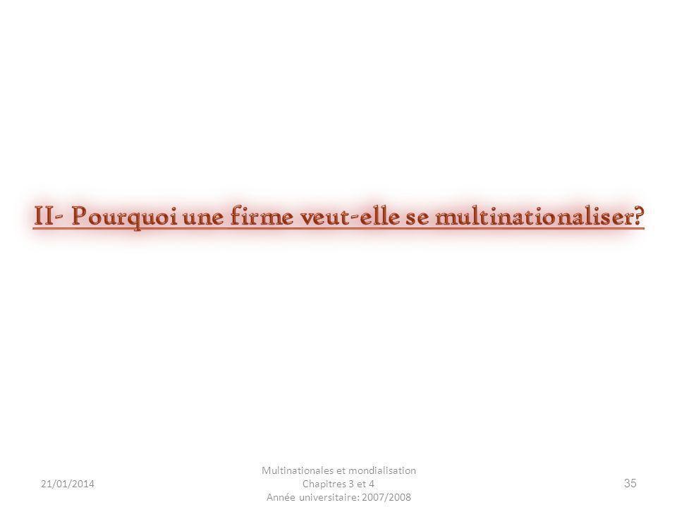 21/01/2014 Multinationales et mondialisation Chapitres 3 et 4 Année universitaire: 2007/2008 35