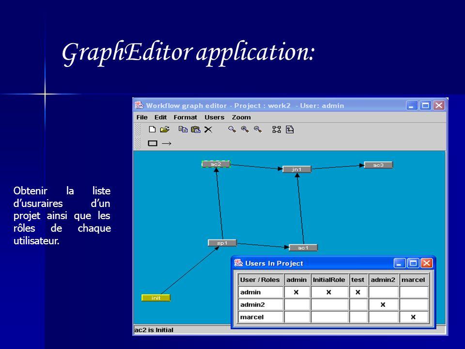 GraphEditor application: Obtenir la liste dusuraires dun projet ainsi que les rôles de chaque utilisateur.