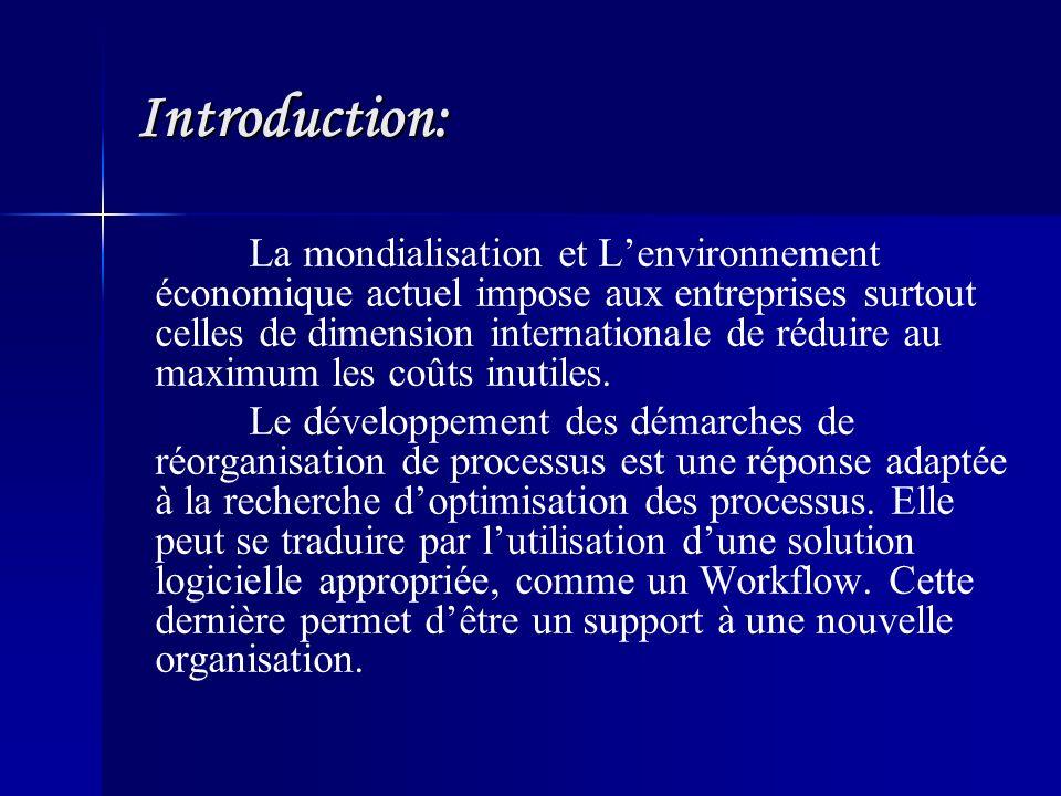 Introduction: La mondialisation et Lenvironnement économique actuel impose aux entreprises surtout celles de dimension internationale de réduire au maximum les coûts inutiles.