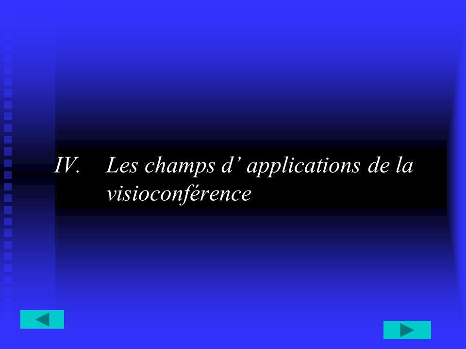 IV.Les champs d applications de la visioconférence