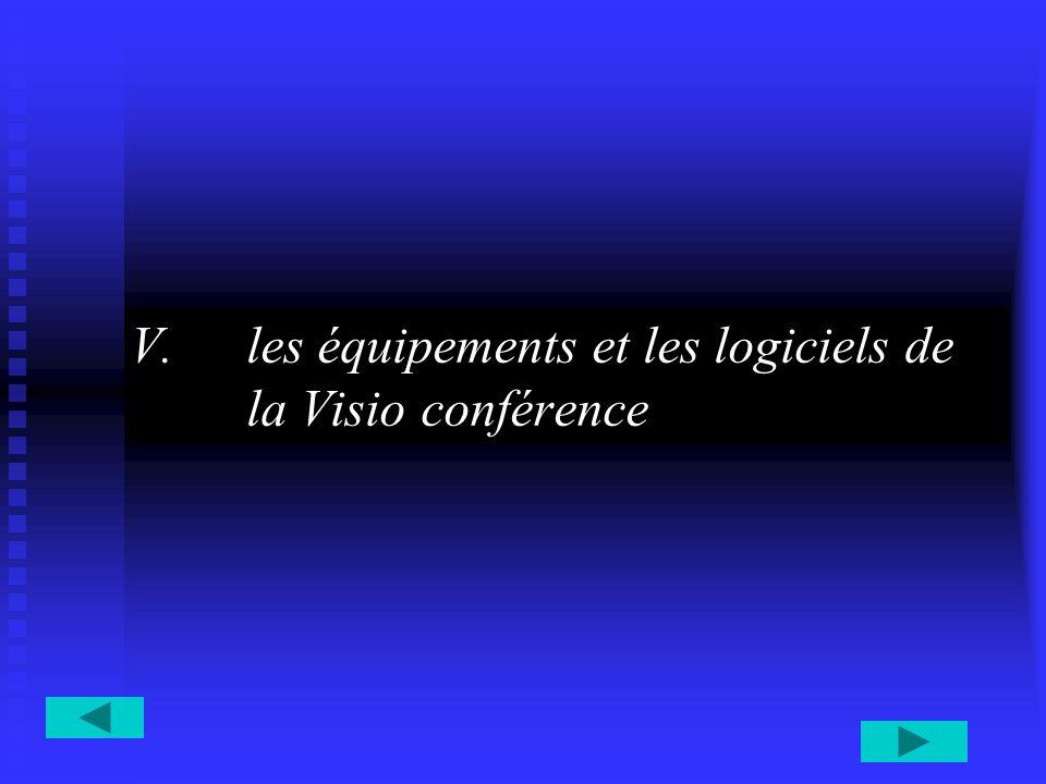 V.les équipements et les logiciels de la Visio conférence