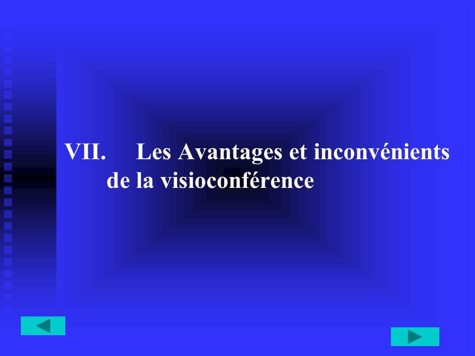 VII. VII. Les Avantages et inconvénients de la visioconférence