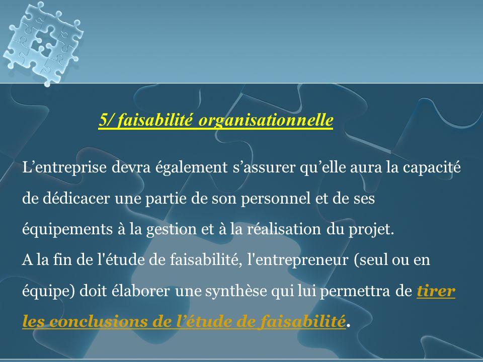 Lentreprise devra également sassurer quelle aura la capacité de dédicacer une partie de son personnel et de ses équipements à la gestion et à la réalisation du projet.