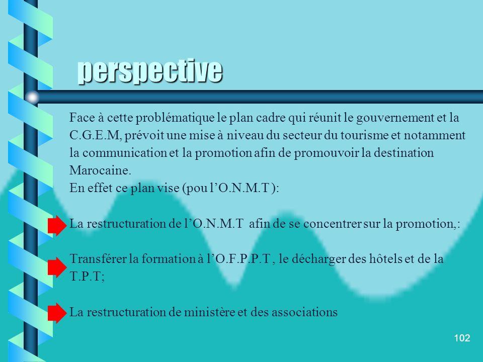 101 « Léchec des promoteurs nationaux et les problèmes du CIH ont milité en faveur de cette nouvelle orientation de la politique touristique marocaine