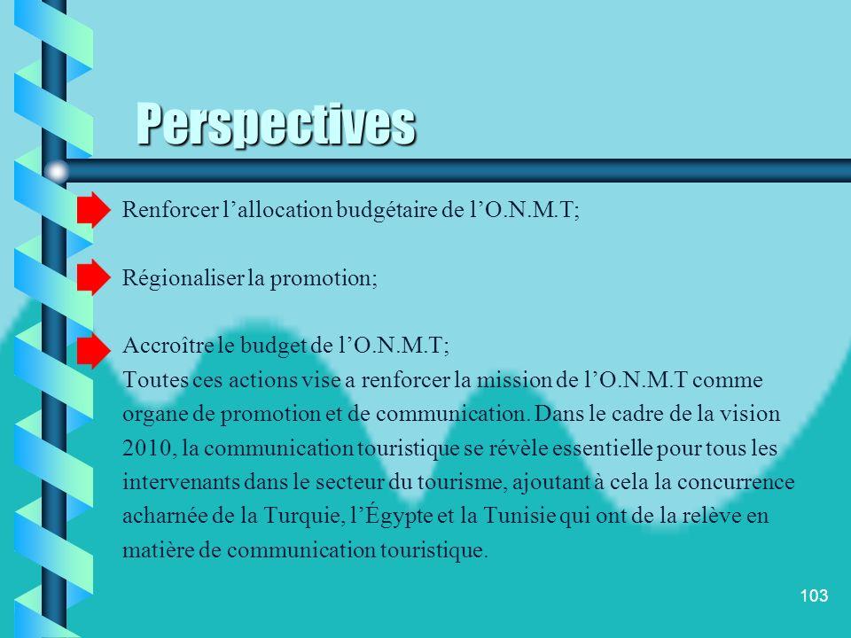 102 Face à cette problématique le plan cadre qui réunit le gouvernement et la C.G.E.M, prévoit une mise à niveau du secteur du tourisme et notamment l