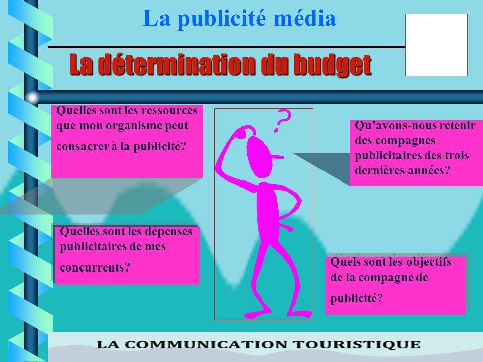 34 La détermination du budget La détermination du budget consacré à la publicité est la première étape dans lélaboration du plan de compagne. Ainsi,lo