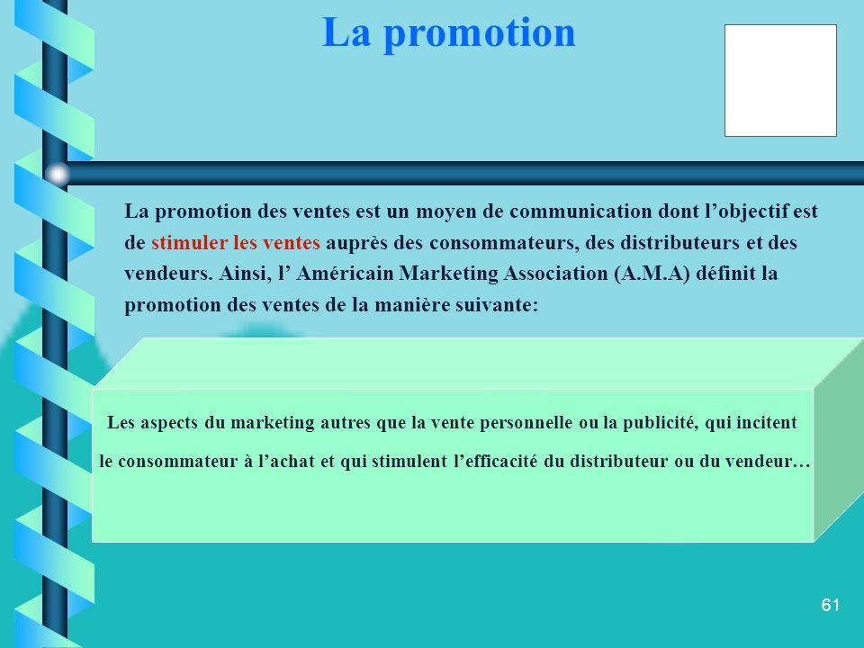 60 La promotion