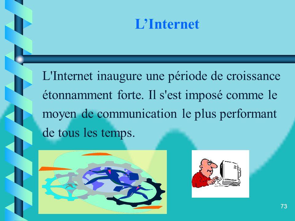 72 Le développement des technologies de linformation et de la communication (T.I.C) a entraîné des changements au niveau de la commercialisation (rése