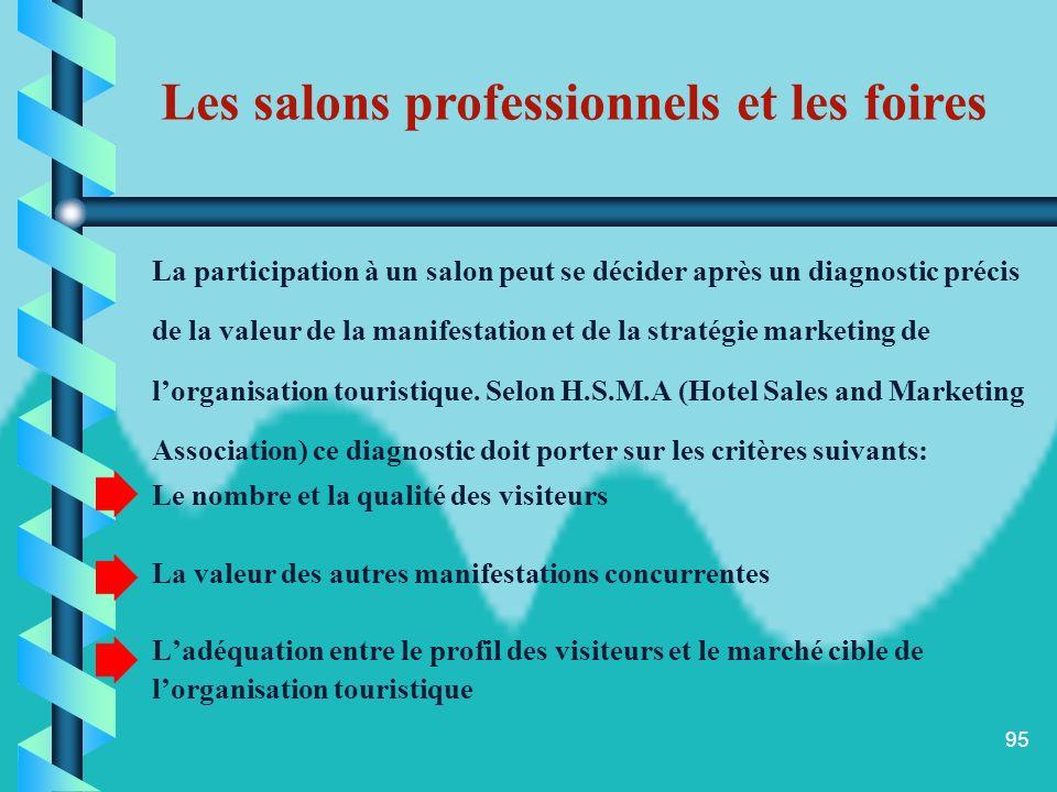 94 Un salons professionnel est une manifestation qui regroupe des exposants appartenant à un même secteur, par opposition aux foires qui peuvent regro