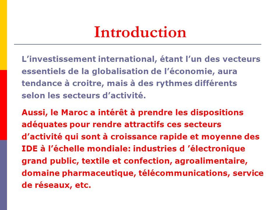 Au Maroc, jusquen 1990, les statistiques sur les investissements étrangers établies par lOffice des changes ne distinguaient pas entre IDE et investissements de portefeuille.