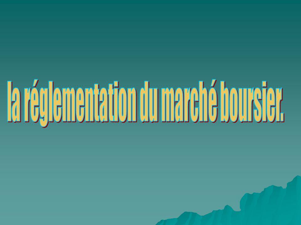 1-Lorganisation du marché.