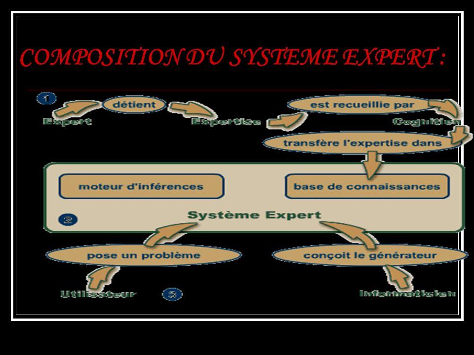 COMPOSITION DU SYSTEME EXPERT :