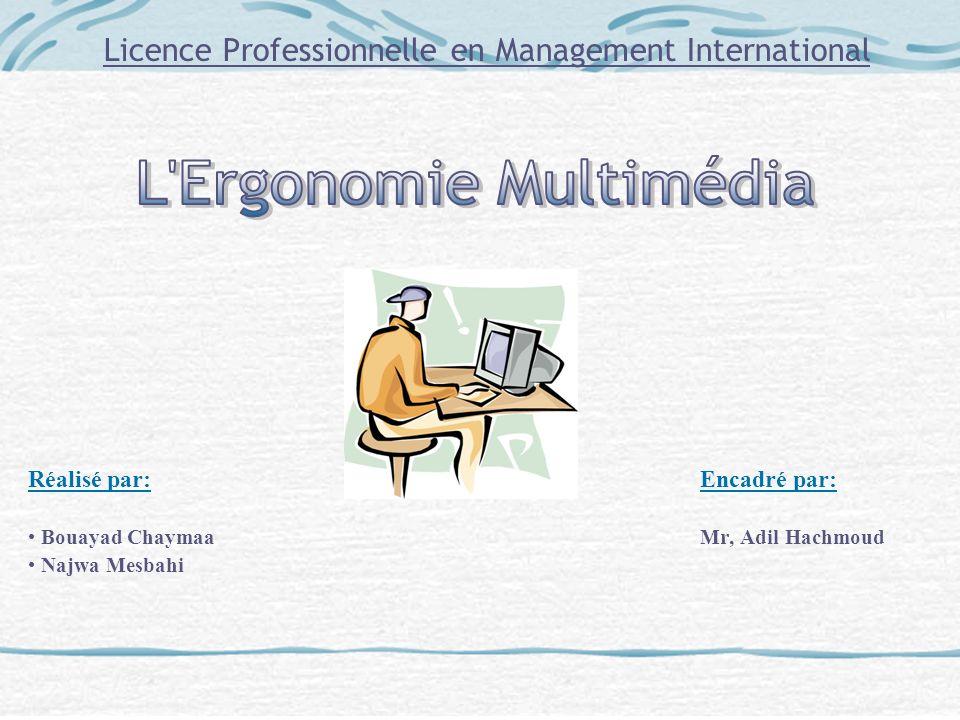 Licence Professionnelle en Management International Réalisé par: Encadré par: Bouayad ChaymaaMr, Adil Hachmoud Najwa Mesbahi