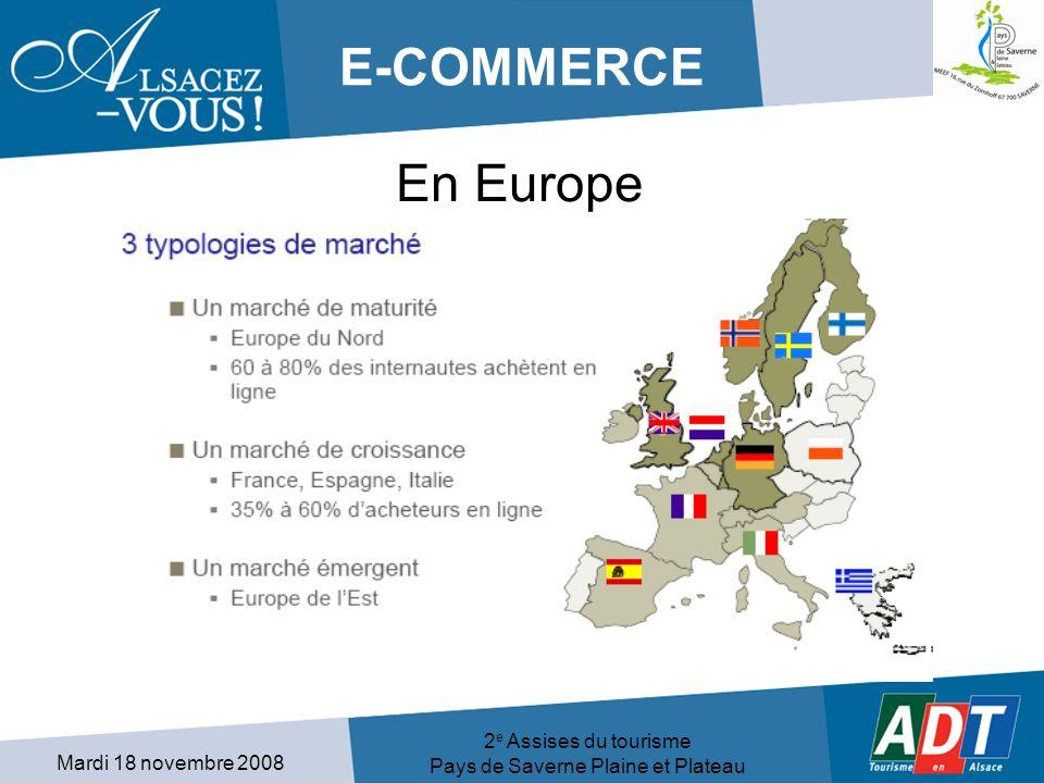 Mardi 18 novembre 2008 2 e Assises du tourisme Pays de Saverne Plaine et Plateau E-COMMERCE En Europe