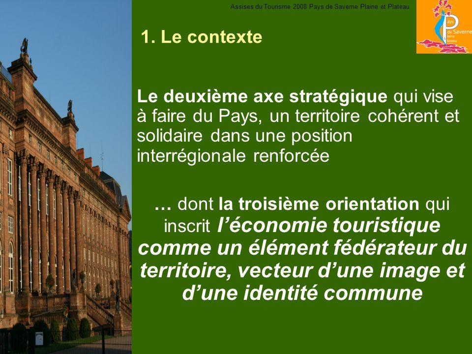 1. Le contexte Le deuxième axe stratégique qui vise à faire du Pays, un territoire cohérent et solidaire dans une position interrégionale renforcée …