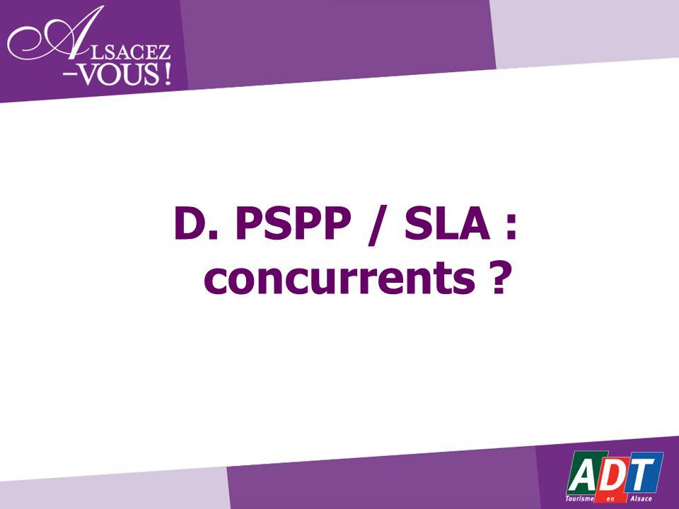 D. PSPP / SLA : concurrents ?