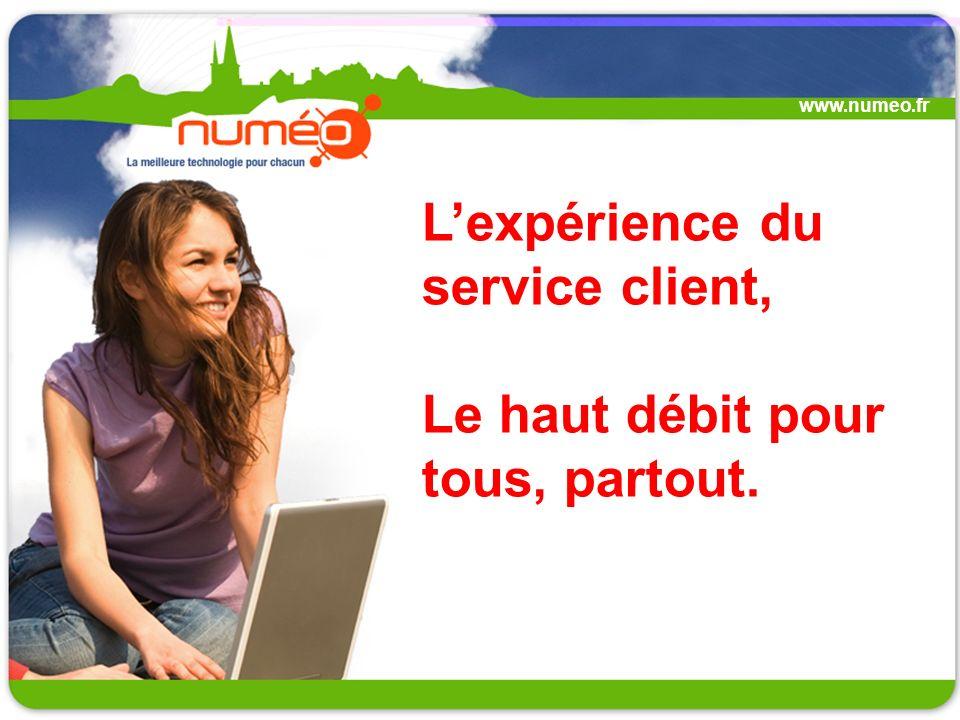 Lexpérience du service client, Le haut débit pour tous, partout. www.numeo.fr