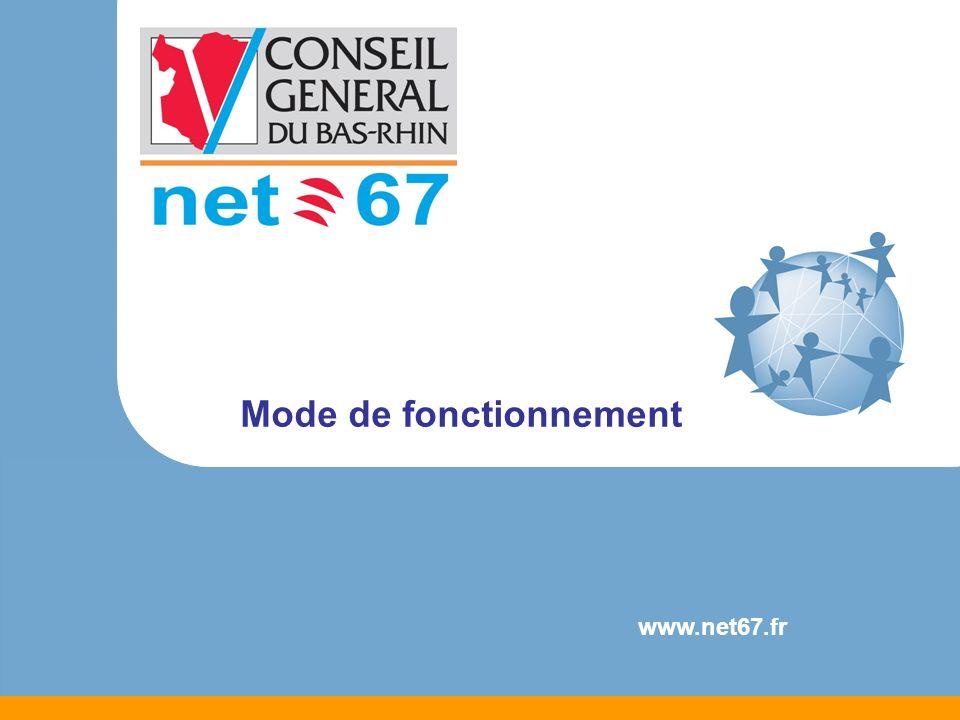 Mode de fonctionnement Test déligibilité sur le site NET 67 http://eligibilite.net67.fr/ Contact avec les FAI Altitude Télécom Numéo Luxinet Présentation des offres des FAI