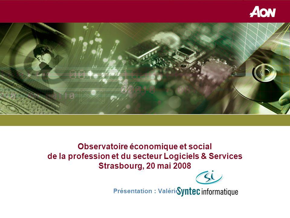 Réassurance Observatoire économique et social de la profession et du secteur Logiciels & Services Strasbourg, 20 mai 2008 Présentation : Valérie LEPROVOST