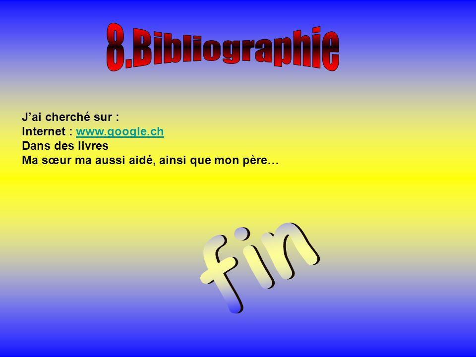 Jai cherché sur : Internet : www.google.chwww.google.ch Dans des livres Ma sœur ma aussi aidé, ainsi que mon père…
