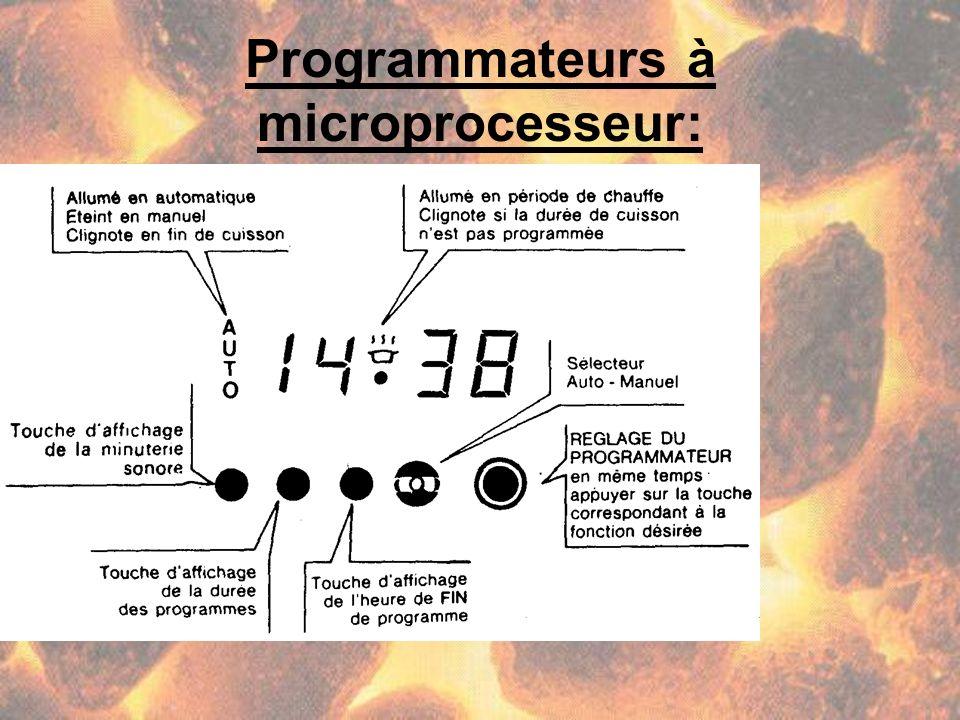 Programmateurs à microprocesseur: