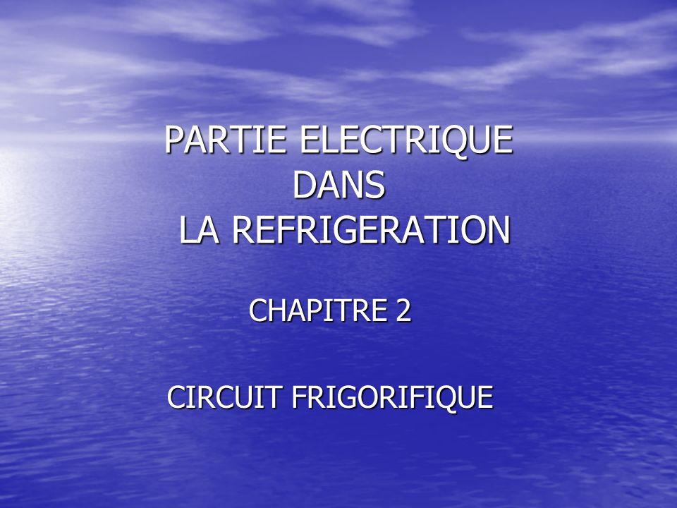 PARTIE ELECTRIQUE DANS LA REFRIGERATION CHAPITRE 2 CIRCUIT FRIGORIFIQUE