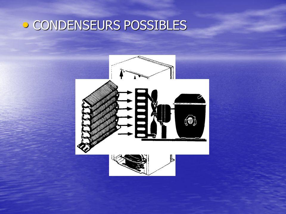 CONDENSEURS POSSIBLES CONDENSEURS POSSIBLES