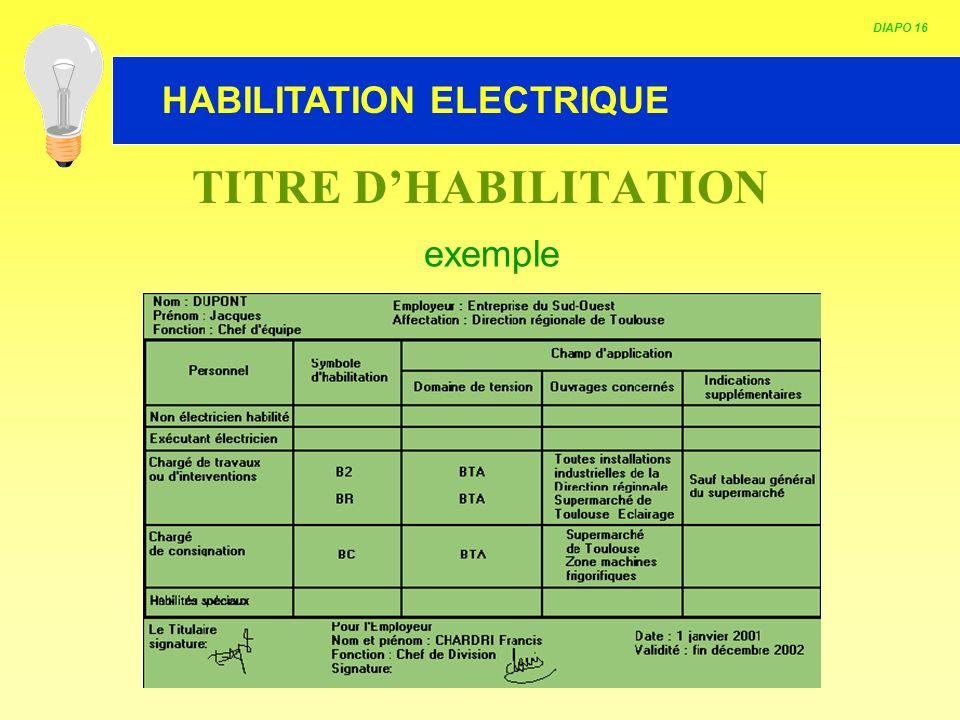 modele attestation habilitation electrique