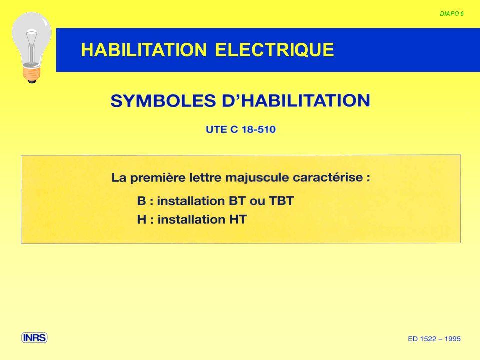 HABILITATION ELECTRIQUE DIAPO 7