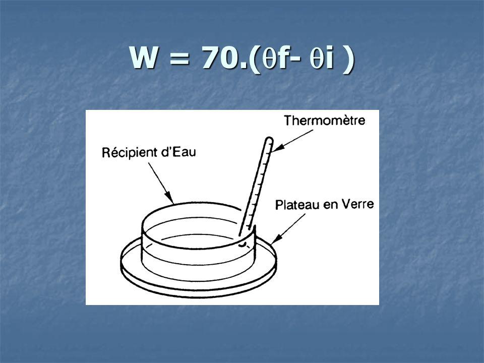 W = 70.( f- i )
