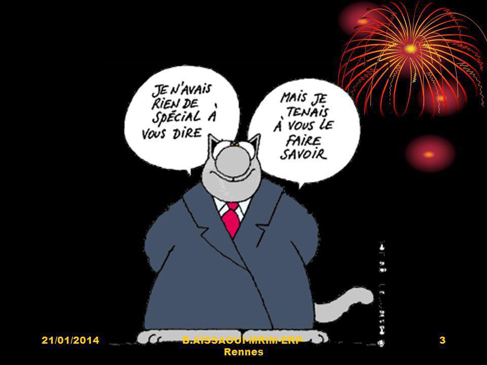 21/01/20144B.AÏSSAOUI-MRIM-ERP- Rennes