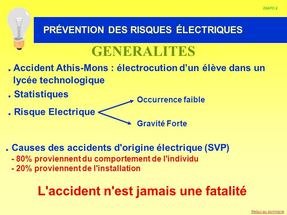 HABILITATION ELECTRIQUE. Accident Athis-Mons : électrocution dun élève dans un lycée technologique. Statistiques. Risque Electrique Occurrence faible
