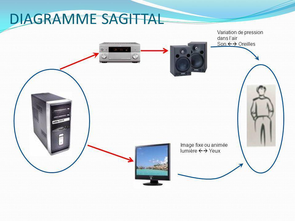 DIAGRAMME SAGITTAL Signal infrarouge lumière Action mécanique