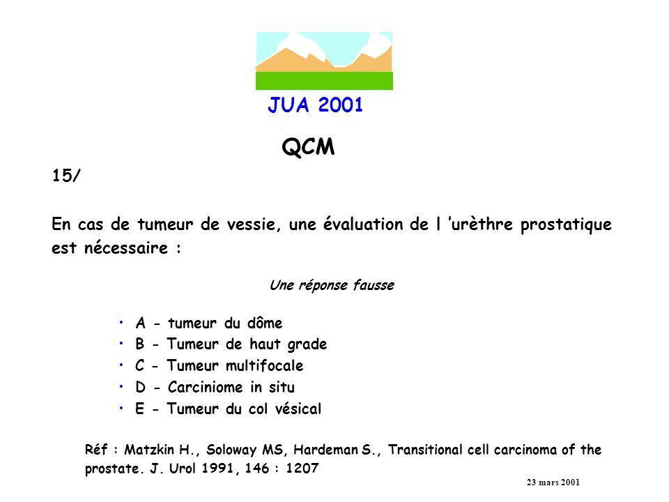 JUA 2001 QCM 23 mars 2001 16/