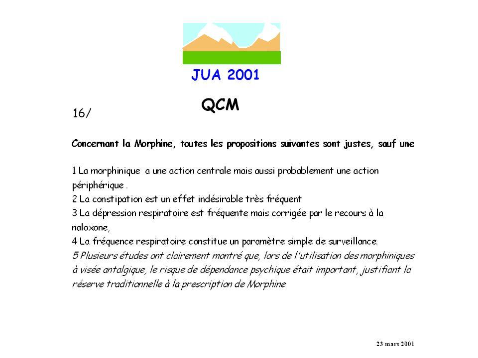 JUA 2001 QCM 23 mars 2001 17/