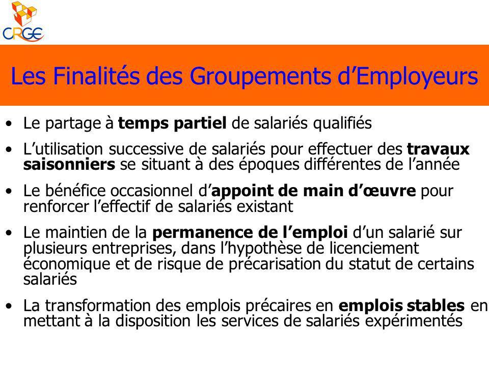 Le partage à temps partiel de salariés qualifiés Lutilisation successive de salariés pour effectuer des travaux saisonniers se situant à des époques d