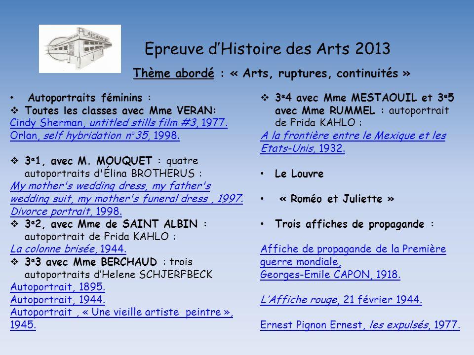 Epreuve dHistoire des Arts 2013 Affiche de propagande : Laffiche rouge, 21 février 1944.