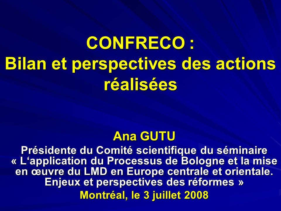 PRESENTATION Constitution – 1999 Au début en 1999 – 5 pays représentés: Roumanie, Bulgarie, Moldavie, Hongrie, Albanie Actuellement – un réseau de 77 universités de 16 pays de lECO