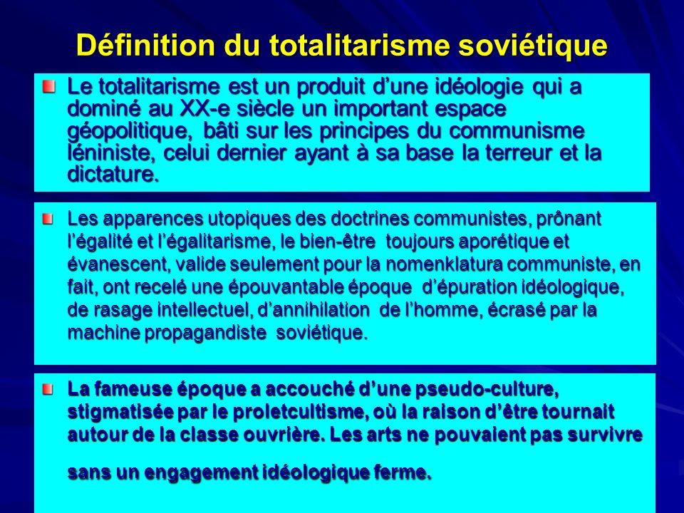 Définition du totalitarisme soviétique Le totalitarisme est un produit dune idéologie qui a dominé au XX-e siècle un important espace géopolitique, bâ