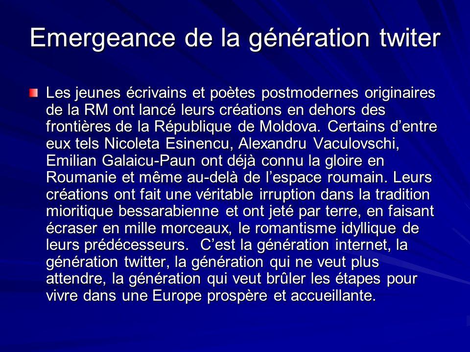 Emergeance de la génération twiter Les jeunes écrivains et poètes postmodernes originaires de la RM ont lancé leurs créations en dehors des frontières