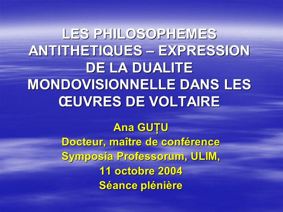 Filosofia operei sale Rebel de caractère, Voltaire a stigmatisé de manière proéminente et incontournable le style de ses écrits philosophiques-moralistes.
