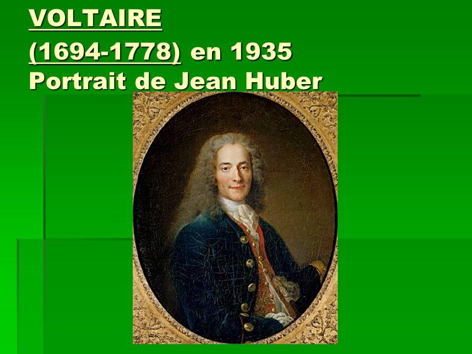 VOLTAIRE (1694-1778) en 1935 Portrait de Jean Huber