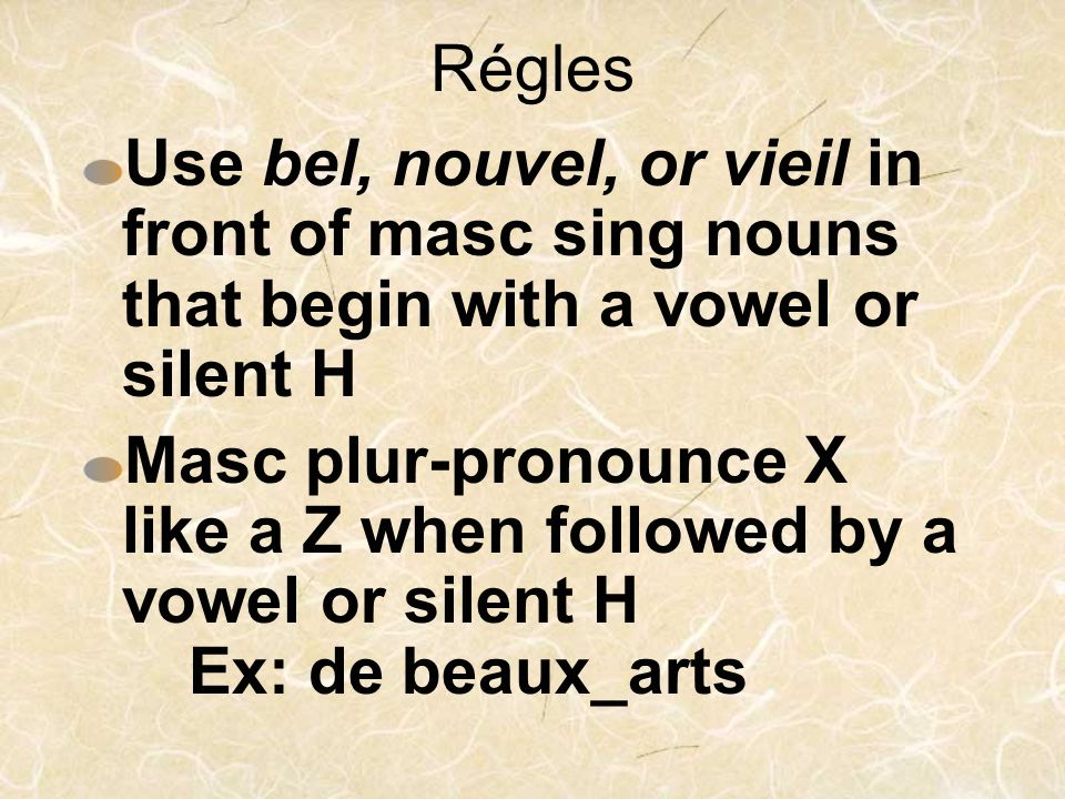 De ou Des.When an adj comes before a plural noun, des becomes de.