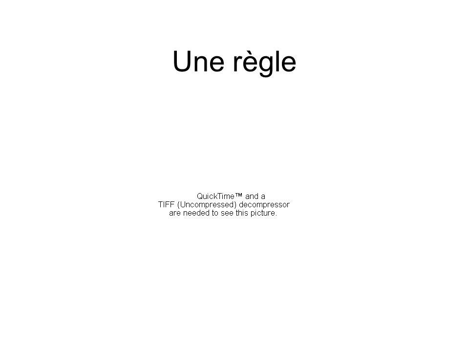Une règle