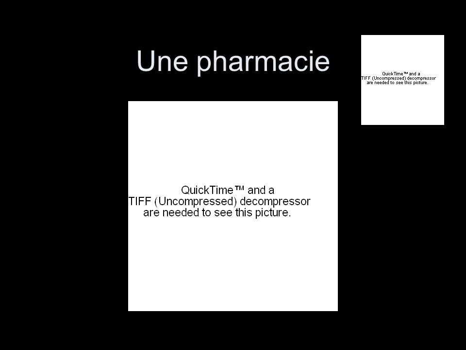 Une pharmacie