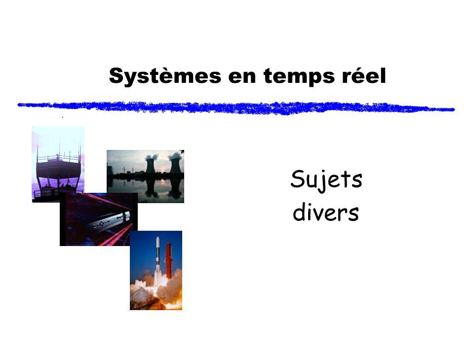 Systèmes en temps réel Sujets divers