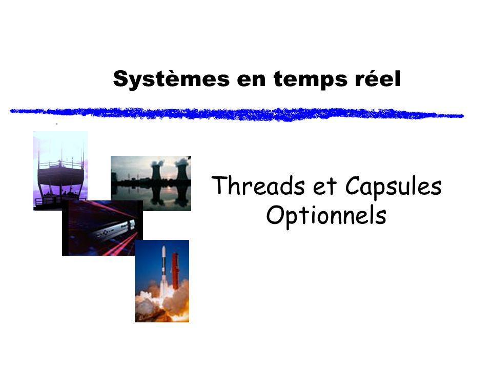 Capsules optionnels - 12 Création dynamique dun rôle de capsule (2) Exemple: RTActorID capsuleID; PrinterData myPrintData(14, printJob05); capsuleID = anotherFramePort.incarnate( myDeviceRole, // rôle de la capsule Printer,// classe de la capsule (ou EmptyActorClass) &myPrintData,// données dinitialisation &RTType_PrinterData, // descripteur de type printerThread,// nom du thread logique -1// prochain index disponible );