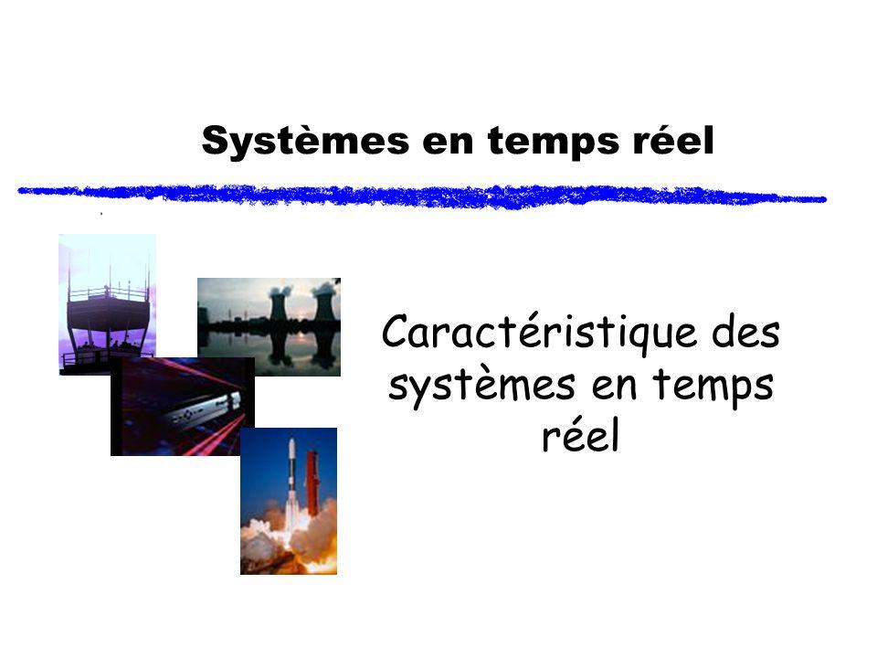 Systèmes en temps réel Caractéristique des systèmes en temps réel