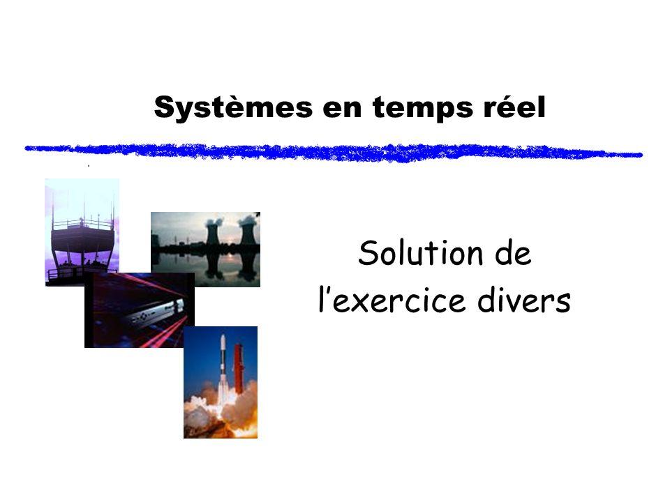 Systèmes en temps réel Solution de lexercice divers